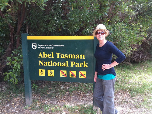 Walking along the Abel Tasman costal park in any NZ weather
