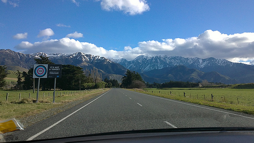 Travelling a scenic route from Nelson to Kaikoura