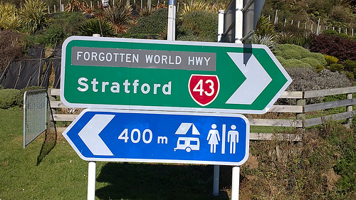 Forgotten World Highway signage