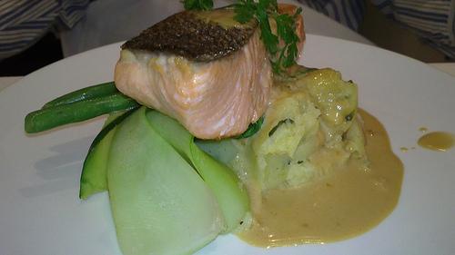 Regent Hotel Salmon dinner