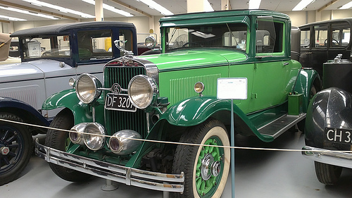 Southward Car Museum Green car