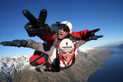 NZone Skydive Queentown can also be done in winter