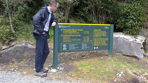 Pororari River Track signage