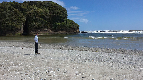 Punakaiki down by the sea