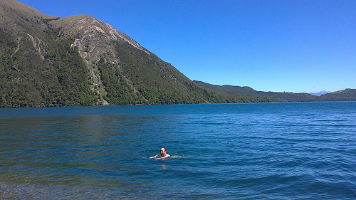 Michael swimming at St Arnaud