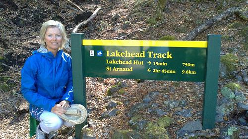 St Arnaud Lakehead walk signage
