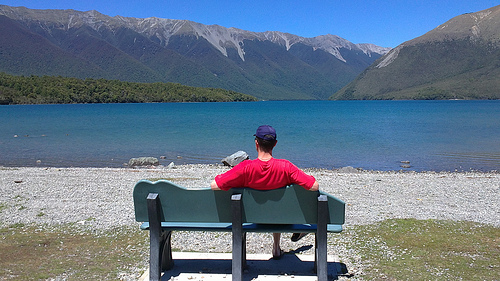 St Arnaud Nelson Lakes Michael sitting