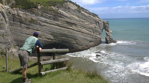 Cape Farewell and Michael leaning