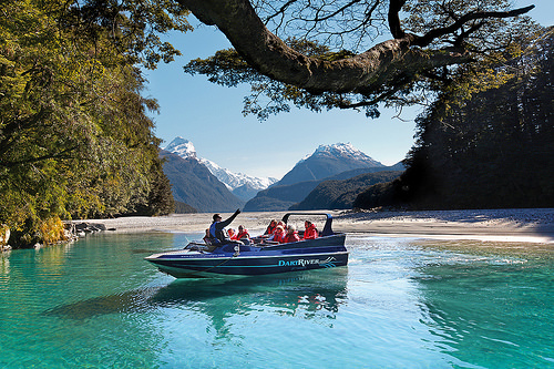 Dart River Safari jetboating with a short walk into LOTR country