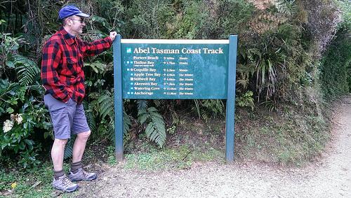 Abel Tasman Coast Track signage
