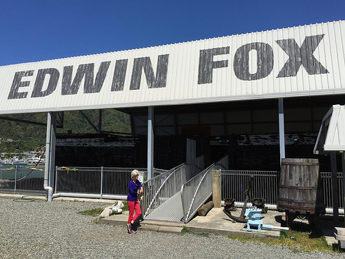 The Edwin Fox signage