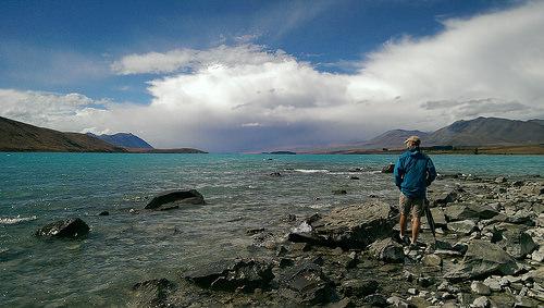 Lake Tekapo shorefront