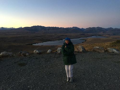 Mt John stargazing Pam solo