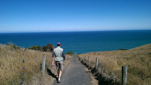 Tunnel Beach Walking Track with Michael