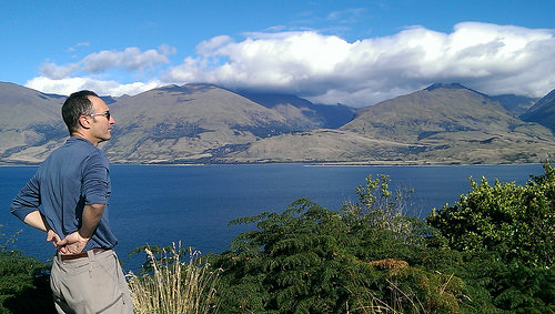 Lake Wanaka Lookout with Michael