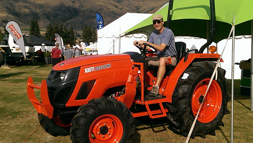 Wanaka A & P Show Michael on tractor