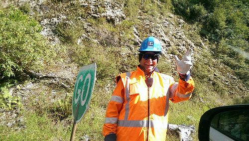 Wanaka to Fox Glacier roadworks