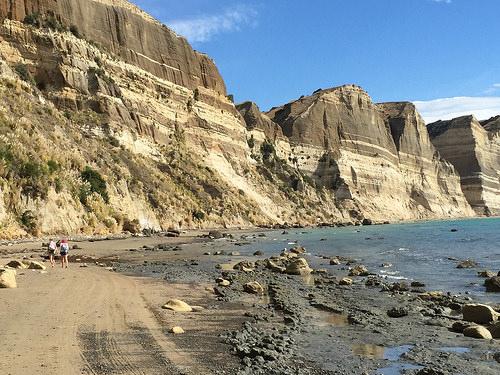 Gannet Beach Limestone Cliffs