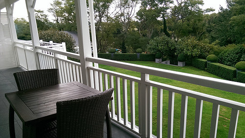 The Hilton private verandah