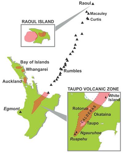 Map of Taupo Rotorua route