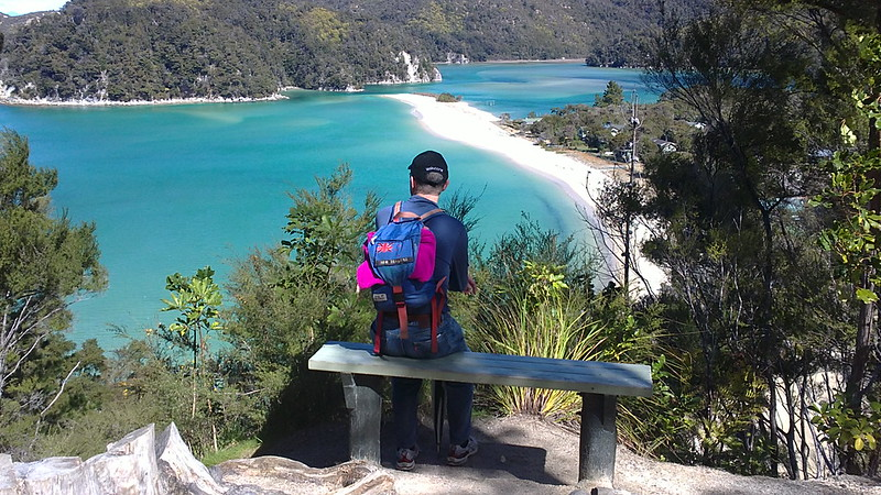 enjoying the views in the abel tasman national park