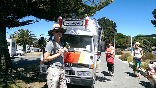 Mr Whippy ice cream truck during a New Zealand holiday