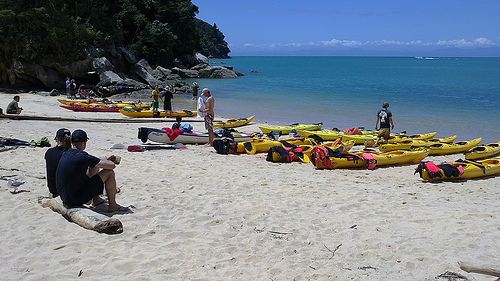 Abel Tasman kayaking at nice weather conditions