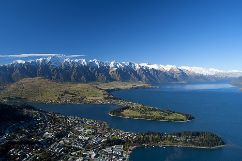 Queenstown aerial view from Skyline gondola