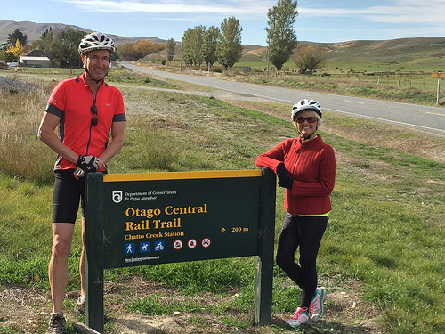 Central Otago railtrail sign