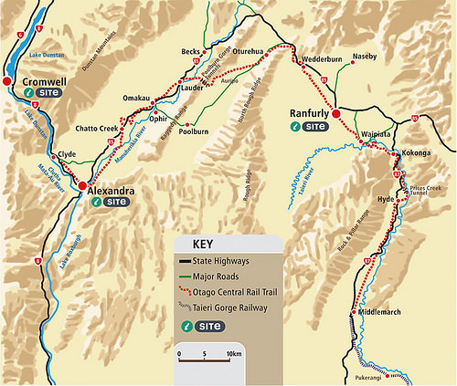 Otago Rail Trail Map