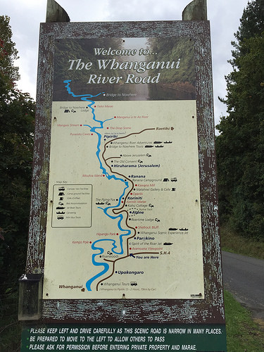 Whanganui River Road map