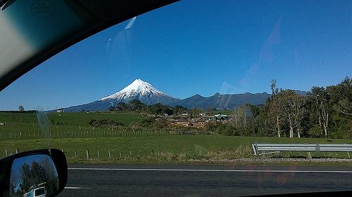 New Zealand travel times and distances - mt taranaki