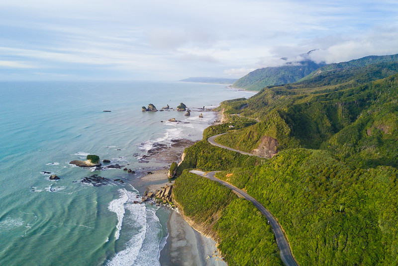 travelling the west coast road south island