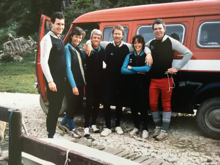 black water rafting in 1988