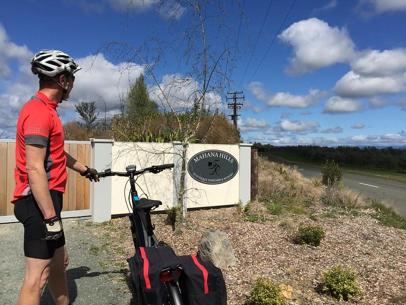Cycling Nelson Tasman Mahana Winery