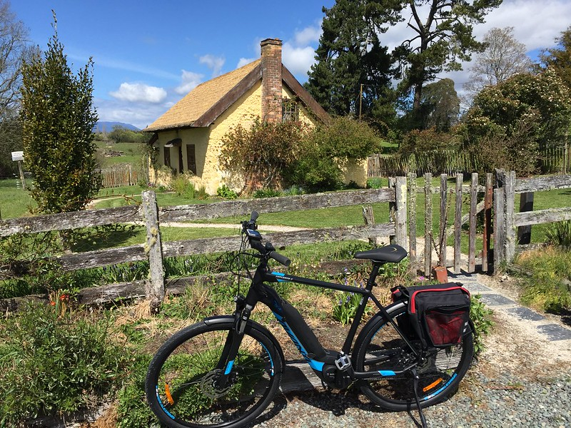 Exploring Tasman Nelson Bike Trail - historic cottage