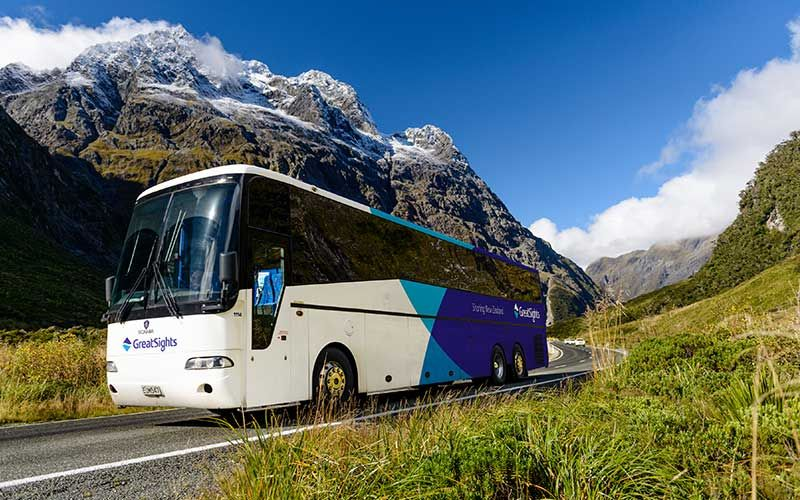 Using a coach getting around New Zealand