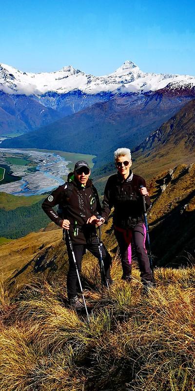 alpine lakes heli-hiking petra and hubertus