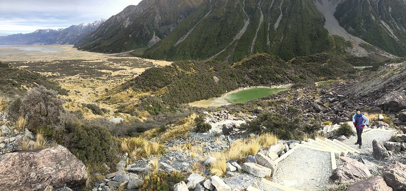 Hiking up the Tasman Valley Glacier Walk in Mt. Cook National Park