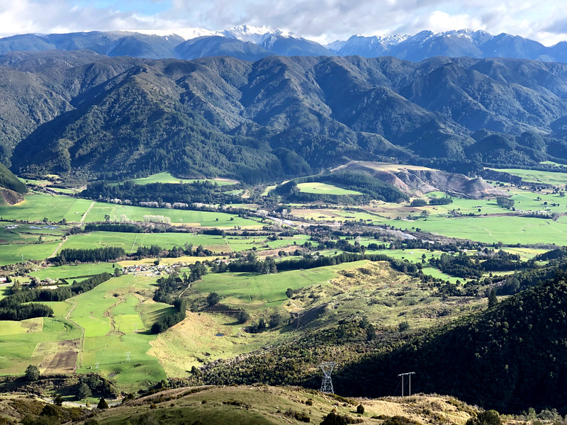 travelling golden bay region with views from takaka hill