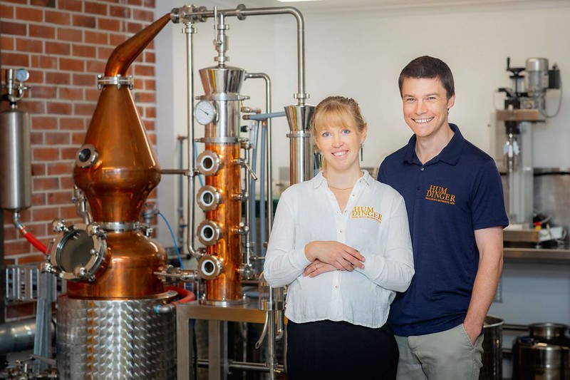 geraldine gin distillery young couple running business